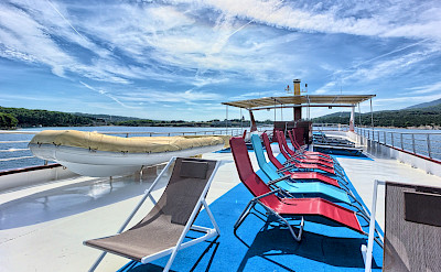 Lounge deck | Andela Lora - Croatia Bike Boat Tours