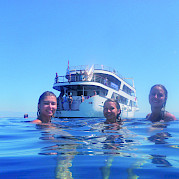 Swimming off the Andela Lora