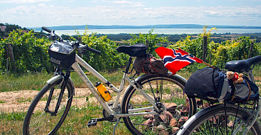 Bike Tour on Lake Balaton in Hungary.