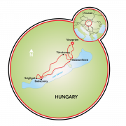Bike & Wine in Hungary Map
