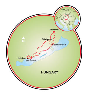 Bike and Wine in Hungary Map