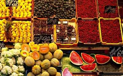 Local fruit on Bike Tour on Lake Balaton in Hungary.