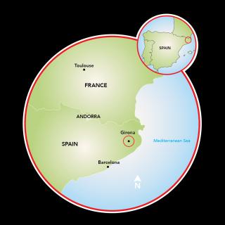 Spa en Girona Map