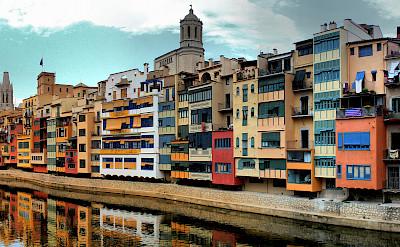 River houses in Girona, Spain. Photo via Flickr:Joan Campderrós-i-Canas