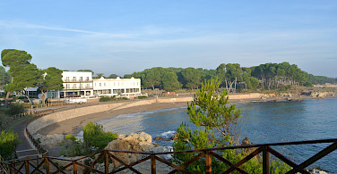 A gorgeous view of the Hostal d' Empuries