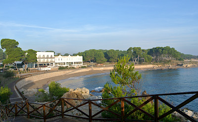 A gorgeous seaside view of the Hostal d' Empuries, Girona, Spain.