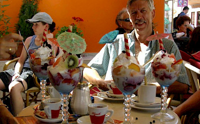 Ice Cream Bike Fuel on Kvarner Bay! Photo by Ursula & Sieghart Kloetzer