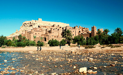 Old kasbah in the Sahara Desert (often used in movies). View of Aït Benhaddou in Morocco. Flickr:Alexander Cahlenstein