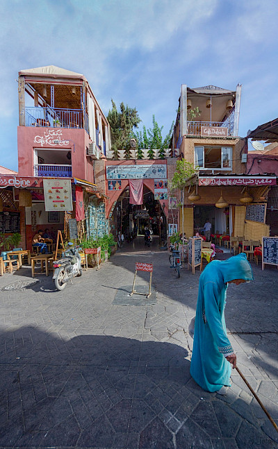 Cafés in Marrakech, Morocco. Flickr:Jose Ramirez