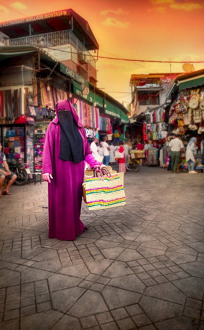 Colors abound in Marrakech, Morocco. Flickr:Jose Ramirez
