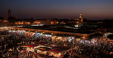 Market in Marrakech, Morocco. Photo via Flickr:www.SuperCar-RoadTrip.fr
