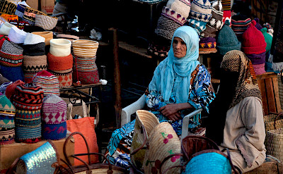 Goodies for sale at the marketplace in Marrakech, Morroco. Photo via Flickr:David Rosen