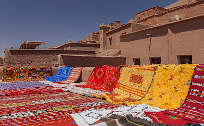 Rugs in Telouet Valley, Morocco. Flickr:wwwtwin-locfr