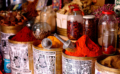 Spices galore in Marrakech, Morocco. Flickr:Mark Rowland