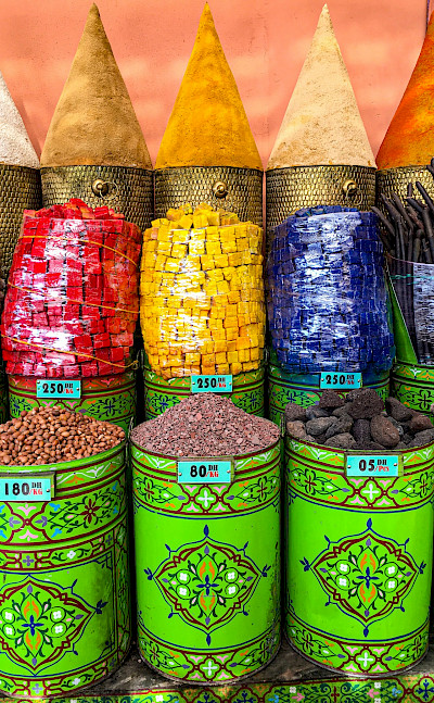 Spices at Old Medina, Marrakech, Morocco. Flickr:Catherine Poh Huay Tan
