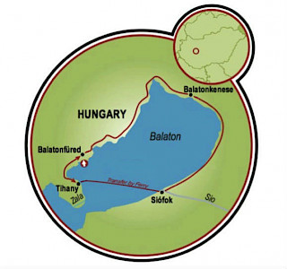 Lake Balaton Family Bike Tour Map