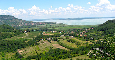 Overlooking Lake Balaton in Hungary.