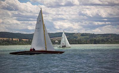 Boating in Tihany on Lake Balaton Hungary Bike Tour.