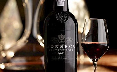 Fonseca Vintage port wine. The ports are Portugal's specialty. Creative Commons:Wiki-portwine