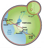 Portugal, Land of Contrasts Map