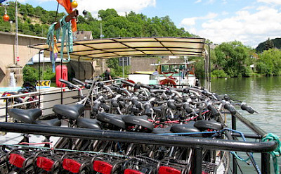 Bike storage area - La Belle Fleur | Bike & Boat Tours