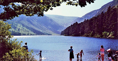 Lake swim in Glendalough, County Wicklow, Ireland. Flickr:grassrootsgroundswell