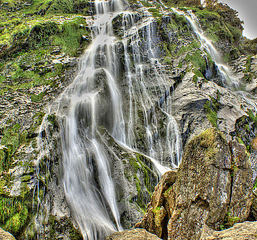 Powerscourt Waterfall in Wicklow, Ireland. Wikimedia Commons:Andrew333