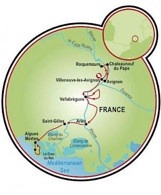 Provence à la Van Gogh Map