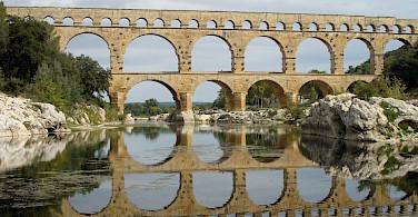 Pont du Gard, Roman aqueduct - photo by Clare MacKeigan