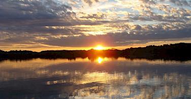 Sunset on the Rhone