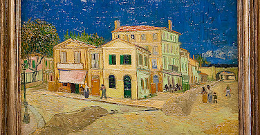 """The Yellow House"" where Van Gogh lived May 1888. Photo via Flickr:MicheleLovesArt"