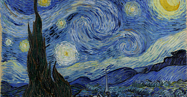 """Van Gogh's """"Starry Night"""", painted in St Remy, June 1889"""