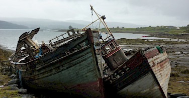 Old boats near Salen, Scotland. Flickr:Andrew Bowden