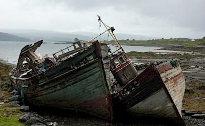 Old boats near Salen, Scotland. Flickr:Andrew Bowden