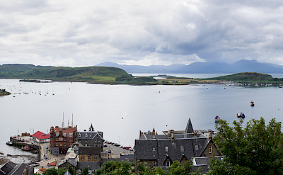 Oban Bay as seen from McCaig's Tower, Scotland. Flickr:Colin