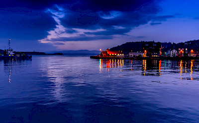 Evening glow in Oban, a resort town in the Isle of Mull, Scotland. Flickr:Robert Brown