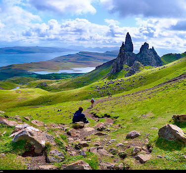 Isle of Skye, view from Old Man of Storr, Scotland. Photo via Flickr:Moyan Brenn