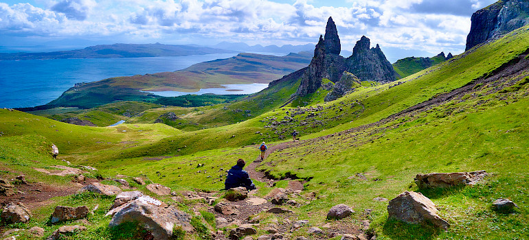Isle of Skye, view from Old Man of Storr, Scotland. Photo via Flickr:Moyan Brenn