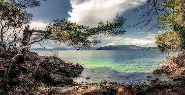 Cres Island's blue waters, Kvarner Bay, Croatia. Photo via Flickr:Bernd Thaller