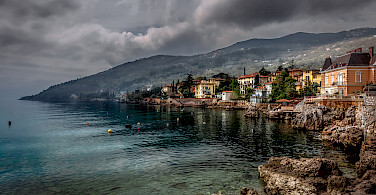 Storm coming in Lovran, Kvarner Bay, Croatia. Photo via Flickr:Bernd Thaller