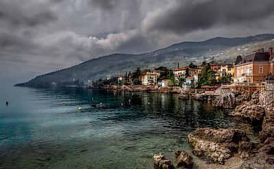 Storm coming in Lovran, Kvarner Bay, Croatia. Photo via Flickr:Bernd Thaller