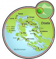 Viaje de aventuras en la bahía Kvarner Mapa