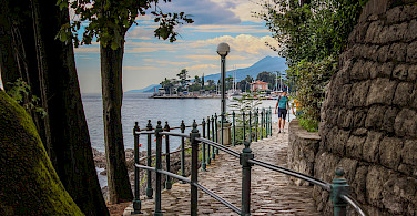 Footpath in Opatija, Kvarner Bay, Croatia. Photo via Flickr:Zorro79