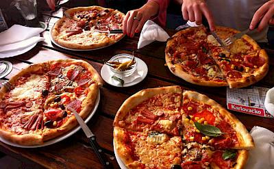 Pizza on Rab Island, Croatia. Photo via Flickr:David Bailey Mbe