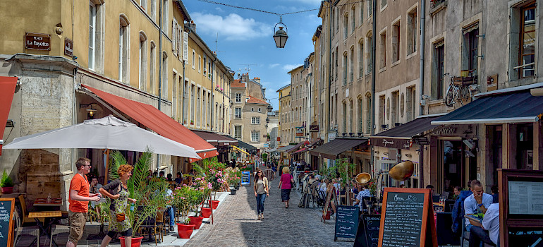 Dining and shopping in Nancy, France. Photo via Flickr:Juergen Adolph
