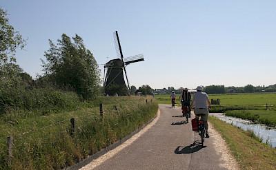 Biking past windmills. ©TO