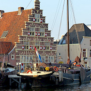 Old harbor in Leiden, South Holland. Photo via Flickr:Roman Boed