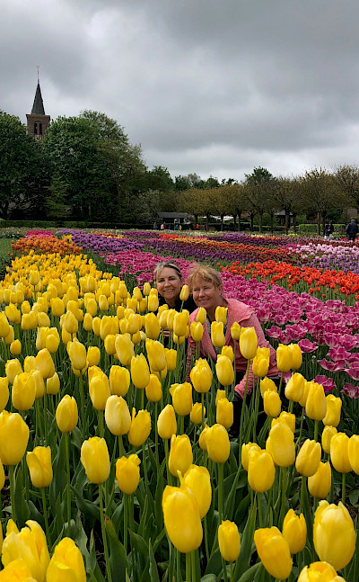 Hiking among the tulips. ©TO