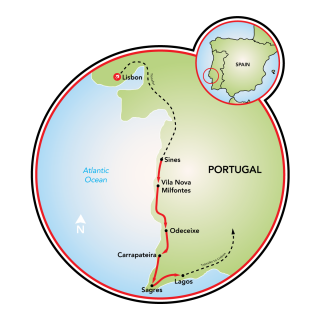 As Praias de Alentejo Map