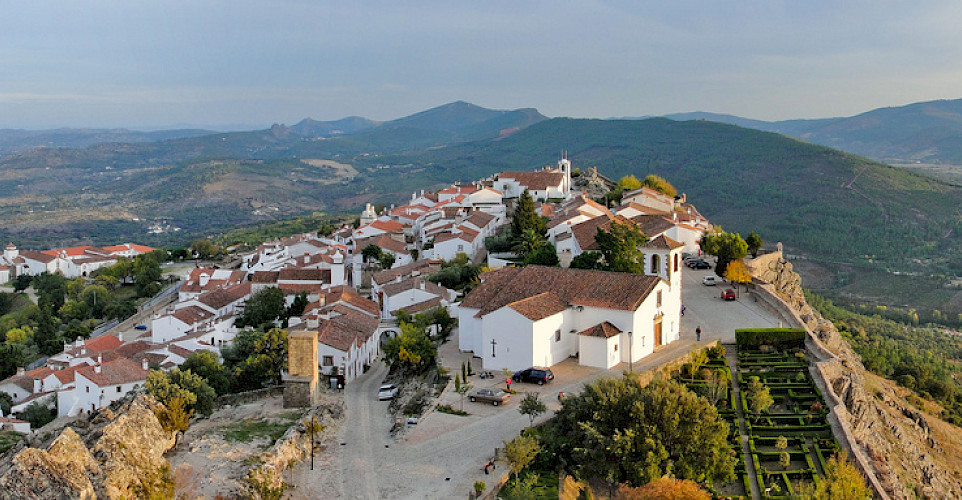 Old town from the castle of Marvão, Portugal. Photo via Flickr:MiguelVieira